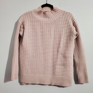 Vince Camuto Light Pink Knit Sweater Size S